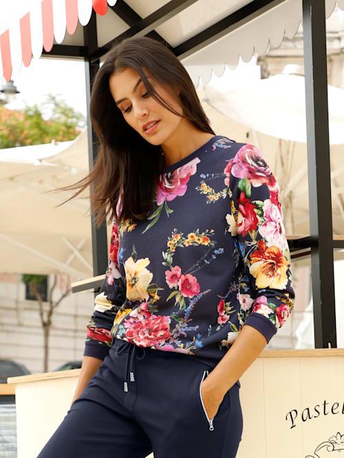 Sweat-shirt à motif fleuri