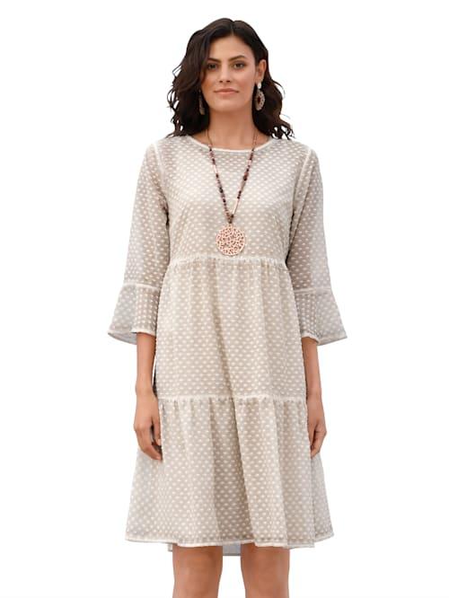 Kleid aus strukturierter Ware