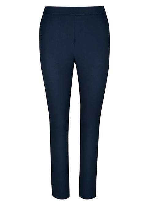 Pantalon avec rayures en satin côtés