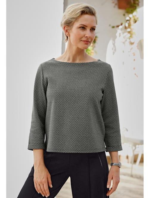 Sweat-shirt à jacquard minimaliste