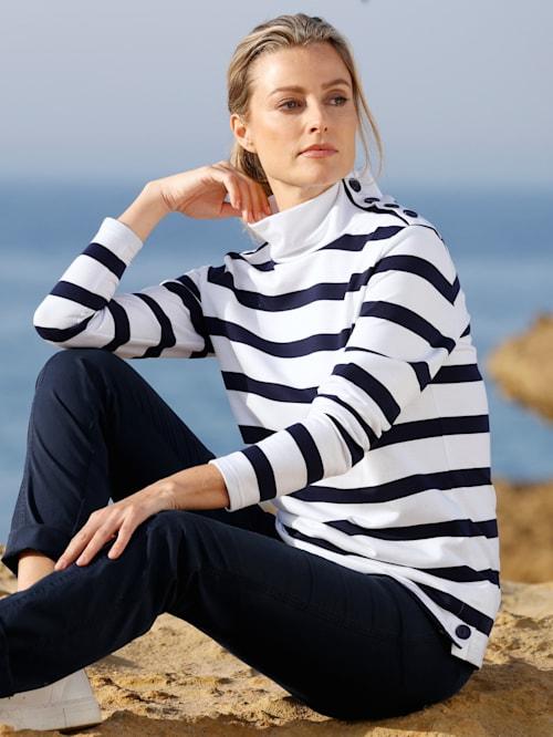 Sweatshirt in Streifendesign