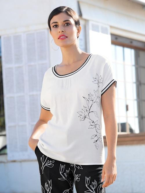 Shirt mit exklusivem, platziertem Alba Moda Print