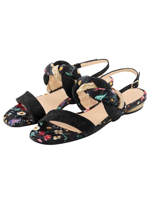Sandale mit geflochtenem Riemen