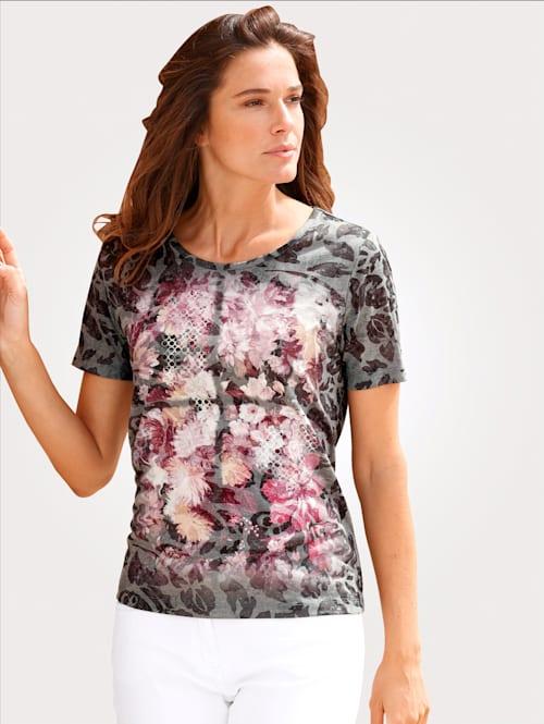 Shirt in floraler Ausbrener-Qualität