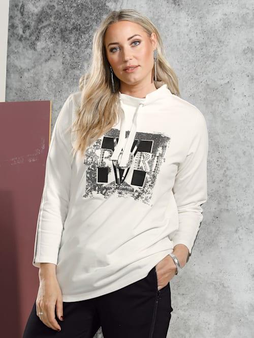 Sweatshirt met folieprint voor