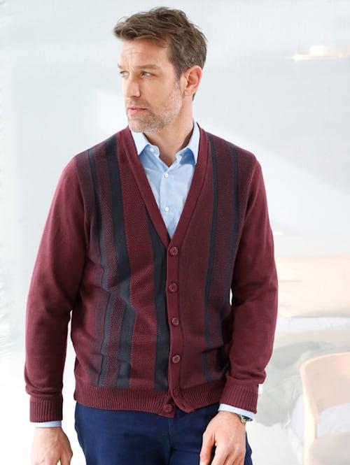 Vest met streeppatroon voor