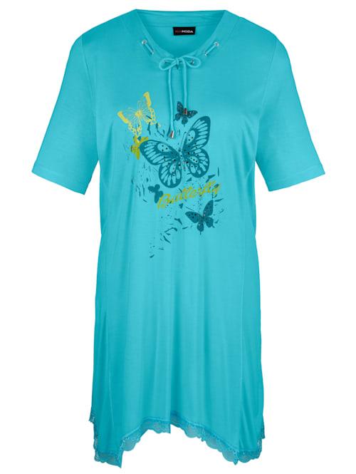 T-shirt à pointes à imprimé papillons