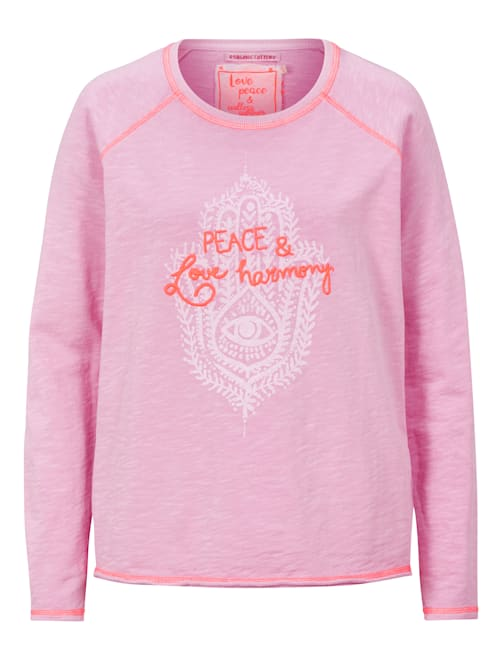 Sweatshirt mit Stickerei