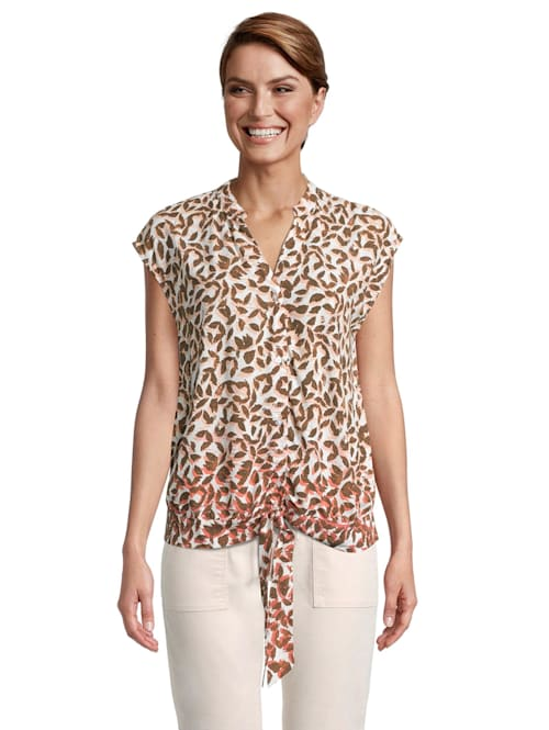 Casual-Bluse mit Print Form