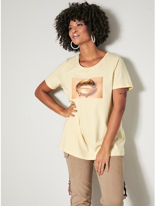 T-shirt à motif 'bouche'