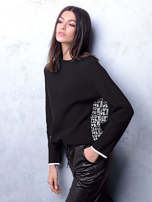 Pullover mit exklusivem Jacquardstrick
