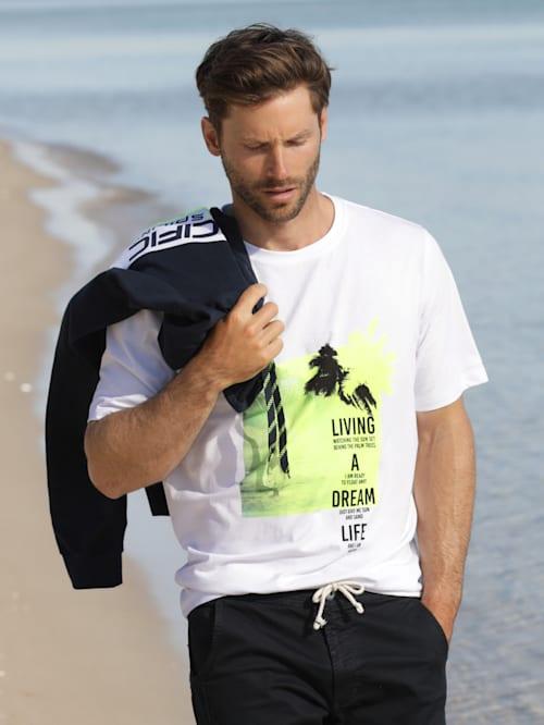 T-shirt avec contrastes fluo