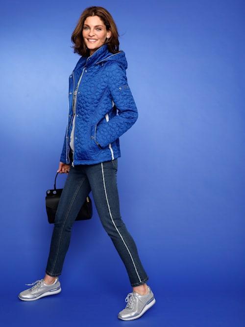Jeans mit Strasszier an den Seiten