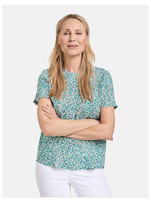 Blusenshirt mit Milles-Fleurs Dessin