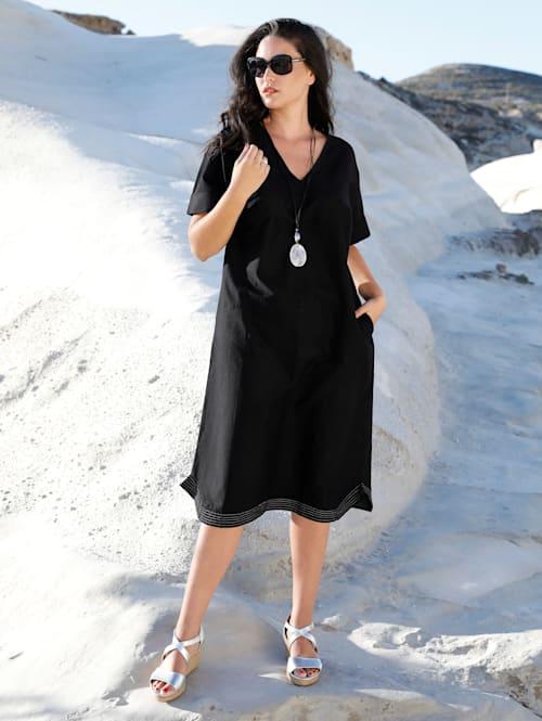 Kleid aus Baumwoll-Leinen Mischung