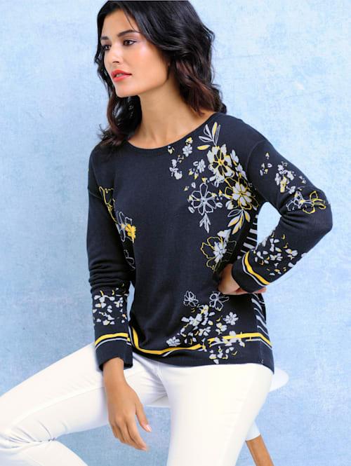 Pullover allover im Blumendessin