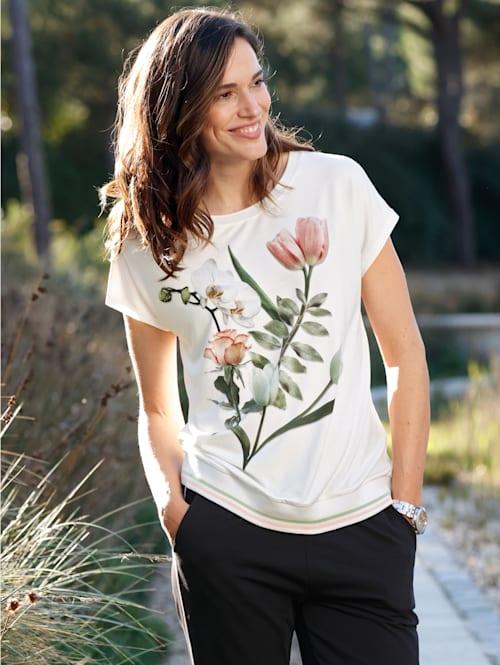 Tričko s kvetinovým motívom