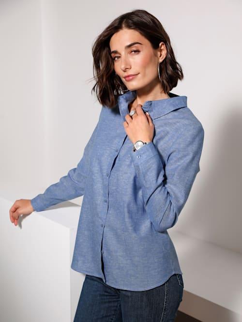 Bluse aus einer Leinen-Baumwoll Qualität