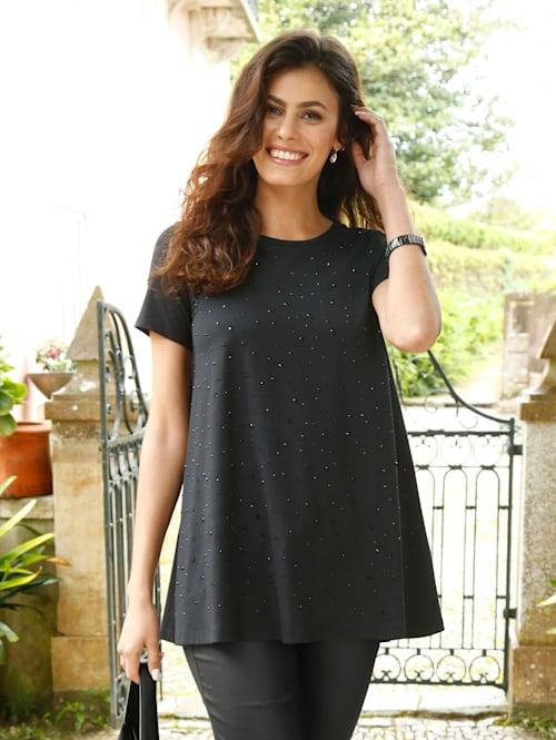 Shirt mit Strassstein-Verzierung