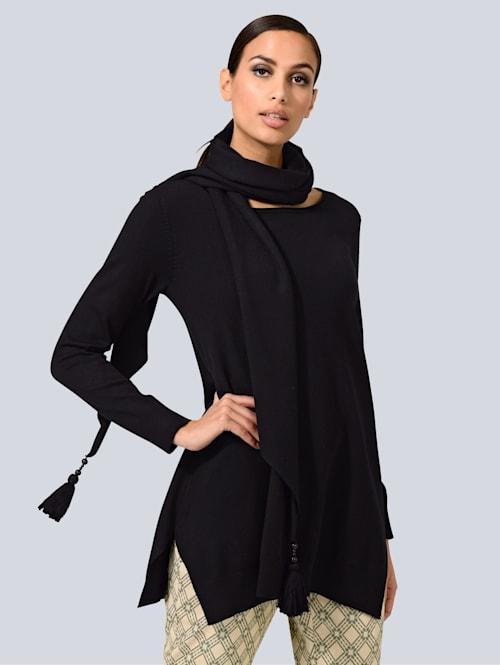 Pullover mit abnehmbarem Schal