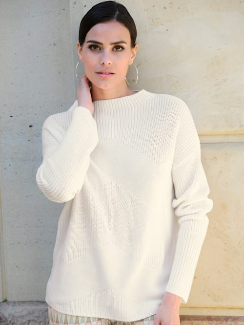 Pullover mit Zick-Zack-Muster