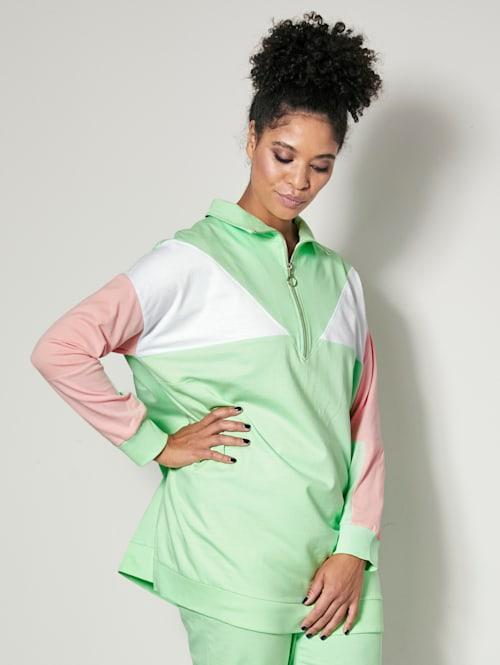 Sweatshirt med colorblocking