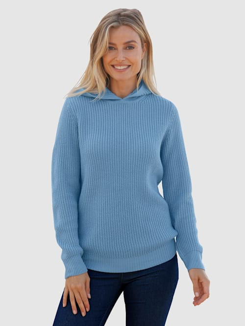 Pullover mit Perlfangmuster