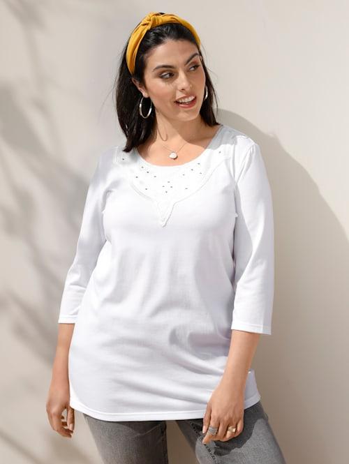 Shirt mit Mesheinsatz am Ausschnitt