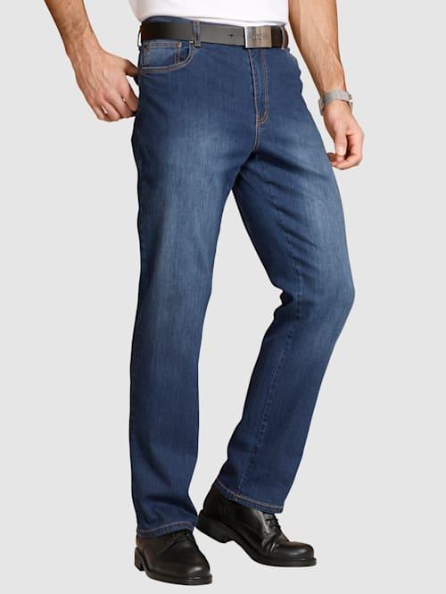 5-vreckové džínsy so strečom