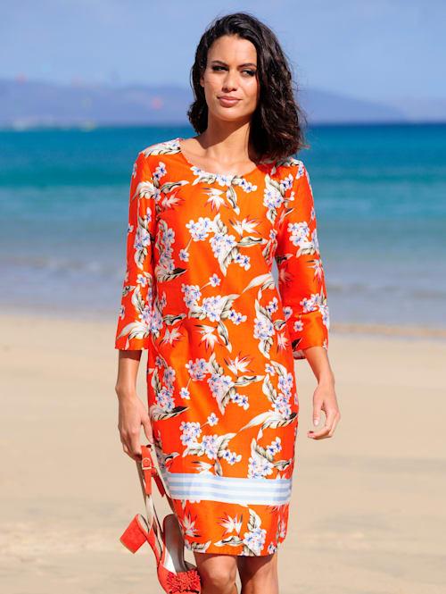 Strandkleid aus Baumwollsatin