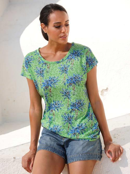 Strandshirt mit Palmendruck