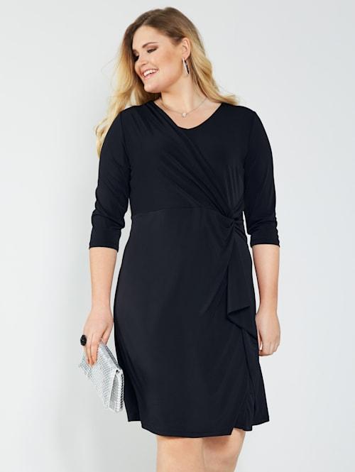 Jersey jurk in geknoopte look