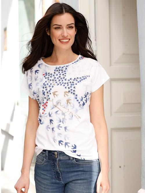 Shirt met zwaluwprint