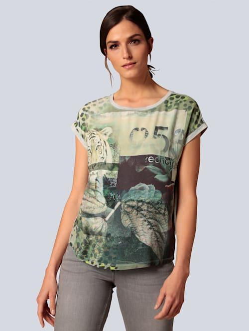 T-Shirt im farbharmonischem Druck