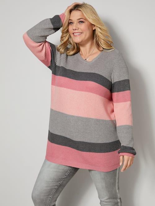 Pullover glatt gestrickt