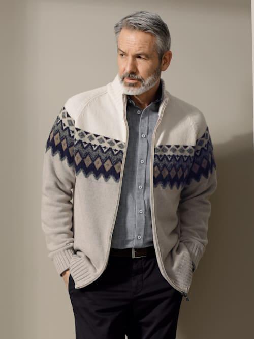 Gilet maille en laine mérinos et cachemire