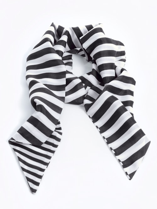 Schal in Streifenoptik