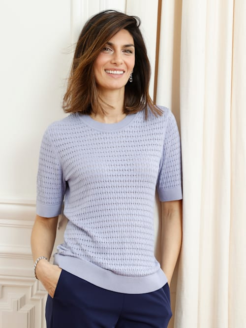 Pullover mit allover Ajourmuster