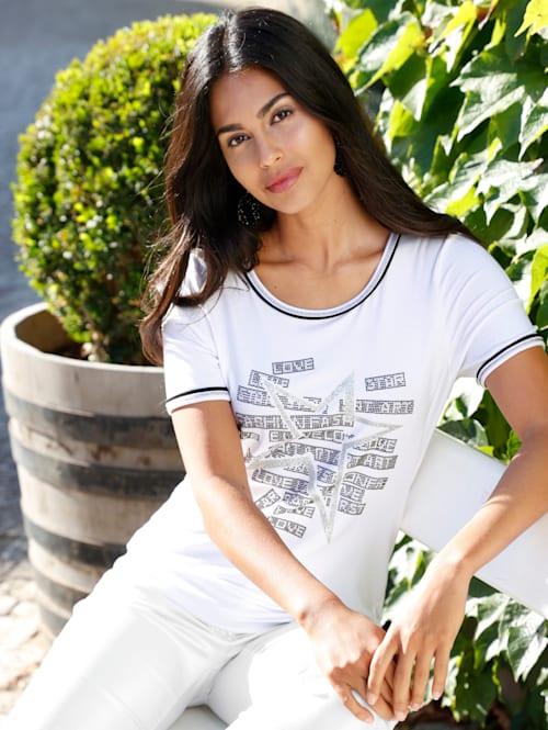Shirt mit Glitzerprint