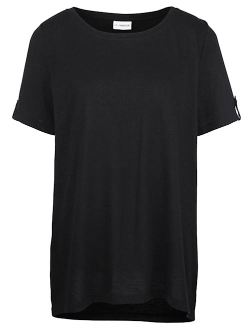 Shirt mit Vokuhila Saum