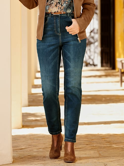 Jeans met washed effect