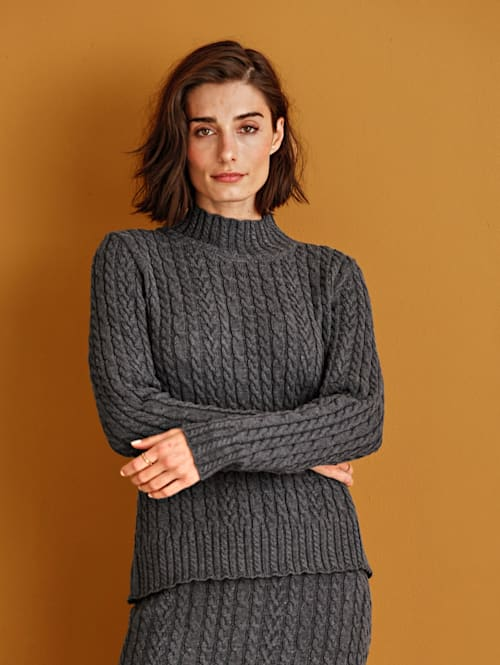 Pullover mit raffiniertem Stehkragen