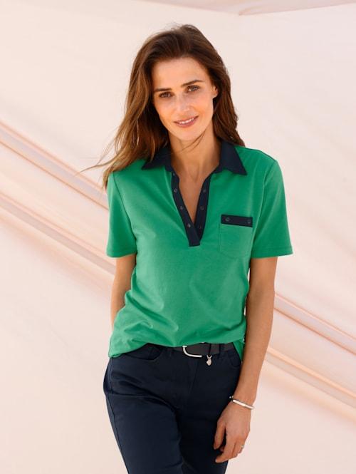 Poloshirt met contrastdetails