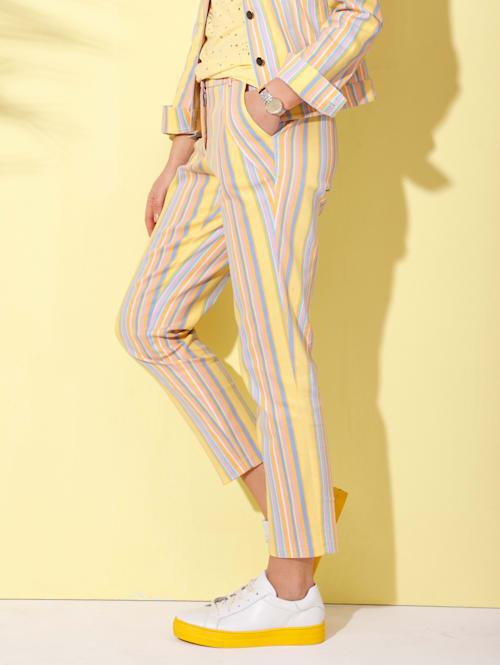 Džínsy s prúžkovaným vzorom