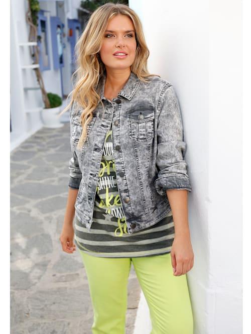 Jeansjakke i farget denim