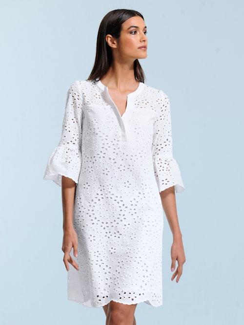 Kleid allover mit filigraner Lochstickerei