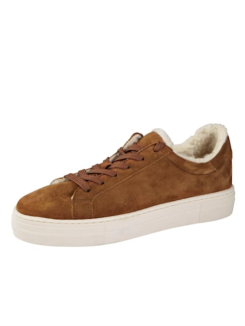 Sneakers med fuskpälsfluff