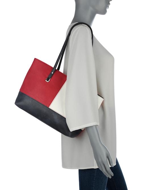 Väska i snygg färgmix
