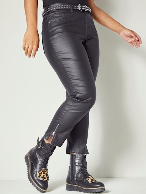 Nohavice z imitácii kože