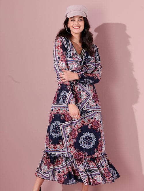 Kleid mit schönem Tuchdruck